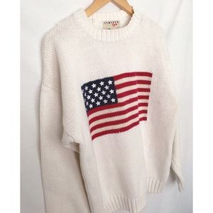 Vintage Limited Too American Flag Sweater